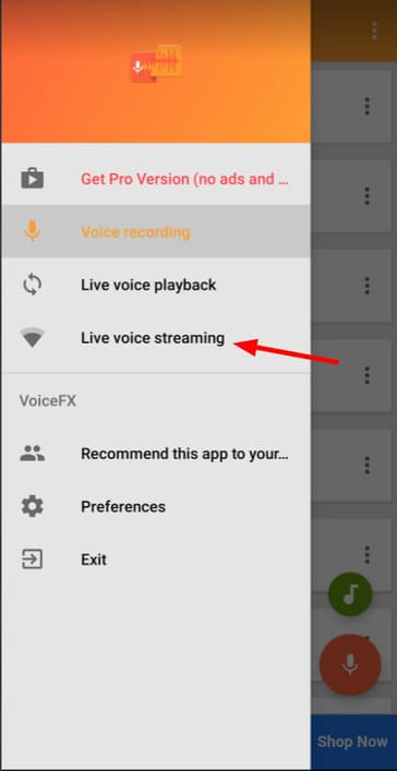 Live voice streaming
