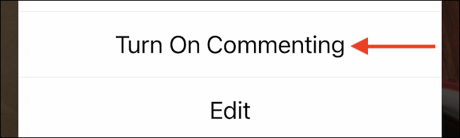 Turn on Commenting