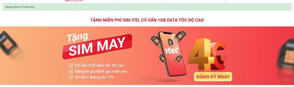 Cách nhận 2 sim 4G ITelecom miễn phí 7