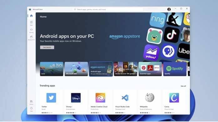 Windows 11 sẽ hỗ trợ các ứng dụng Android từ Amazon's App Store