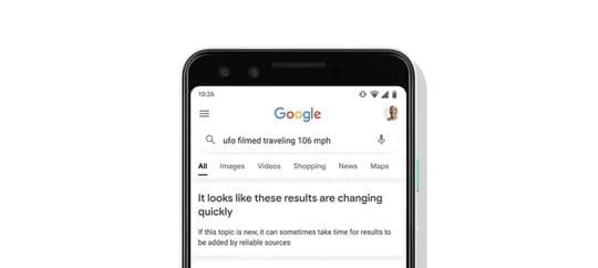 Google cảnh cáo người dùng đừng quá tin cậy vào kết quả tìm kiếm của họ 10