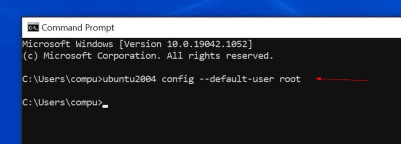 ubuntu config --default-user root