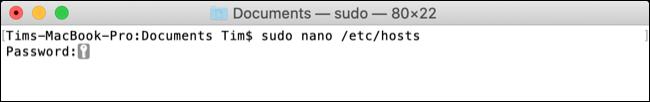 Chỉnh sửa file hosts trên macOS