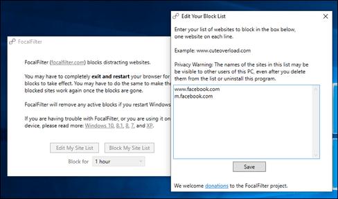 Ứng dụng chặn Website trên cho Windows