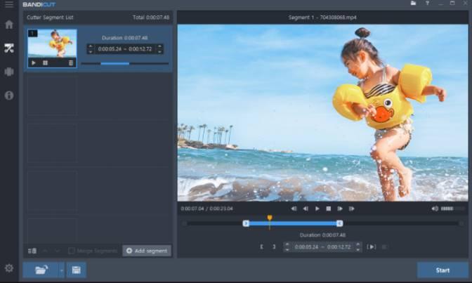 Phần mềm Chỉnh sửa Video tốt nhất Bandicut video cutter