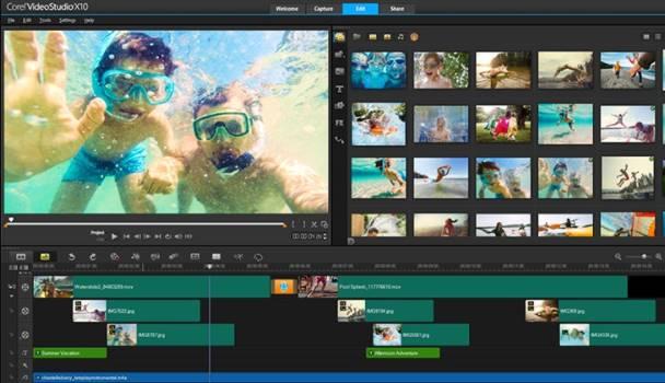 Phần mềm Chỉnh sửa Video tốt nhất corel video studio
