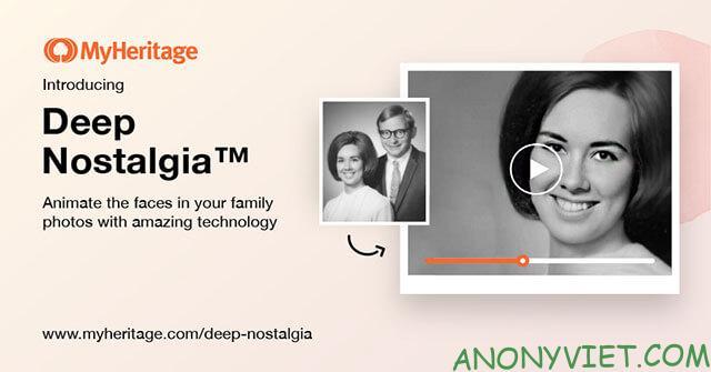 Cách biến ảnh cũ thành ảnh động bằng MyHeritage