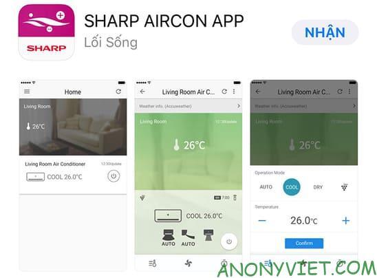 Ứng dụngSharp Aircon App