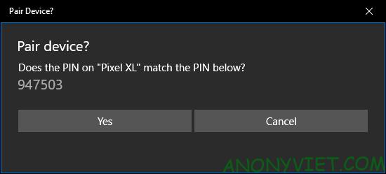 Xác nhận mã PIN