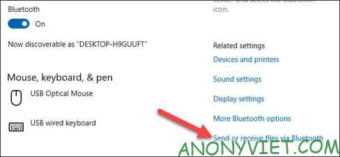 Send or Recieve Files via Bluetooth