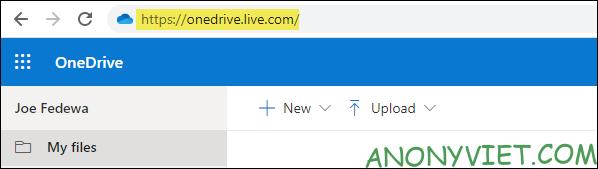 web OneDrive trên Windows