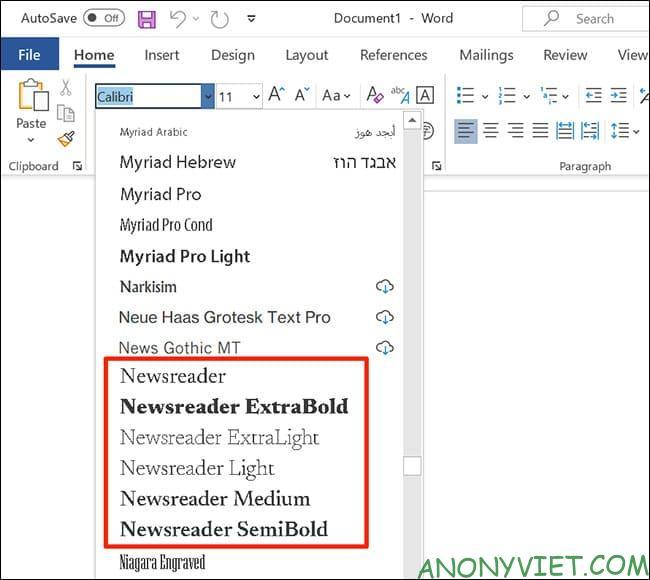 Cách sử dụng Google Font trong Microsoft Word 45