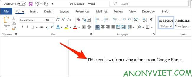 Cách sử dụng Google Font trong Microsoft Word 46