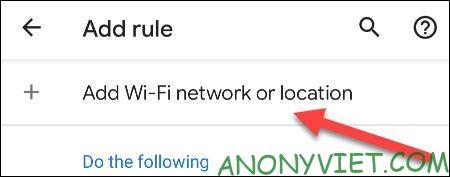 Add Wi-Fi Network or Location
