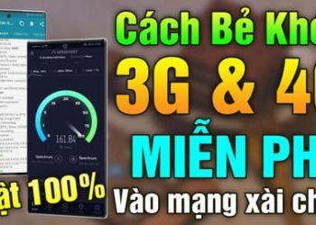 Cách vào mạng 3G, 4G Viettel miễn phí không giới hạn data 9