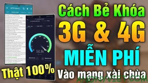 Cách vào mạng 3G, 4G Viettel miễn phí không giới hạn data