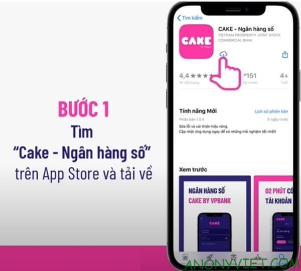 Cách nhận 50k miễn phí từ ứng dụng Cake 28