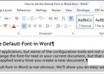 Cách thay đổi font chữ mặc định trong Word 2