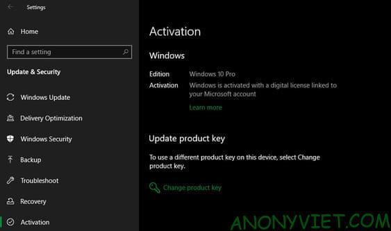 Đảm bảo rằng Windows đã được kích hoạt bản quyền