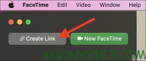 Create Link Facetime