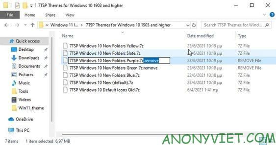 7TSP Themes for Windows 10 1903 and higher