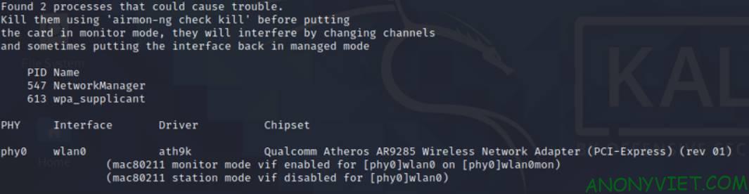 Hack wifi password Monitor mode 2