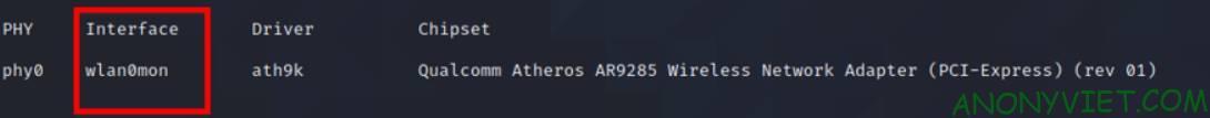 Hack wifi password Monitor mode 4