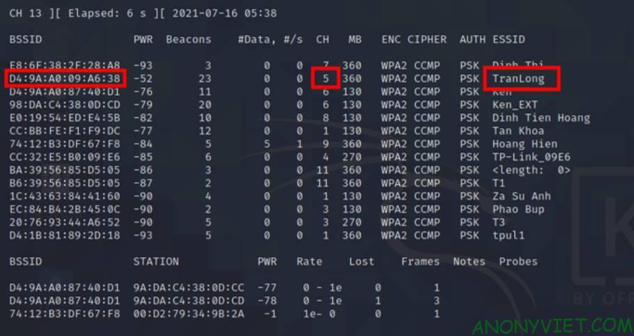 Hack wifi password Wpahandshake 1