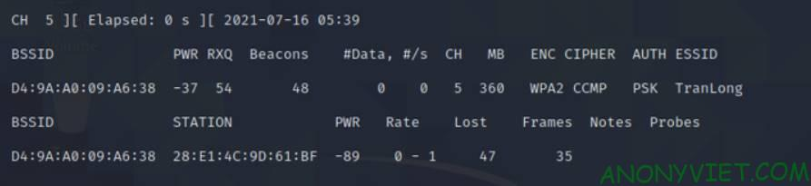 Hack wifi password Wpahandshake 2