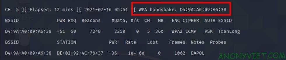 Hack wifi password Wpahandshake 3