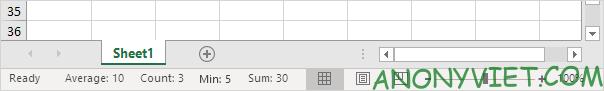 Bài 25: Cách sử dụng Status Bar trong Excel 63