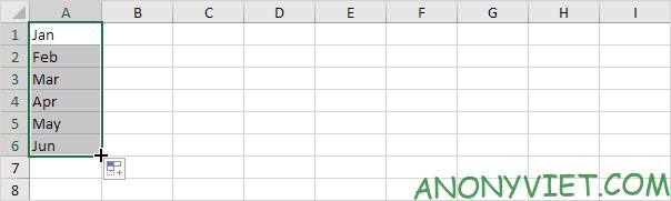 Autofill Tháng Excel