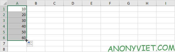 kết quả Autofill có quy luật Excel