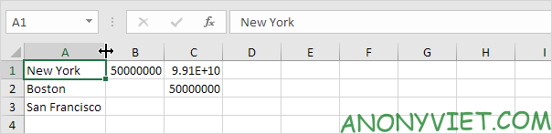 AutoFit 1 cột Excel