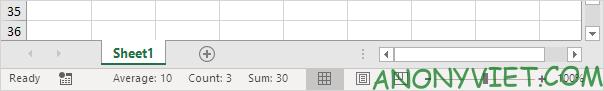 Bài 25: Cách sử dụng Status Bar trong Excel 56