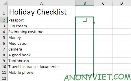 Bài 26: Cách sử dụng Checkbox trong Excel 91