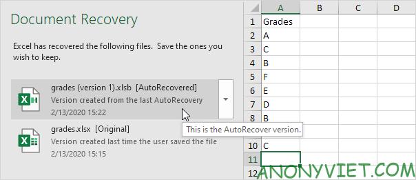 Bài 29: Cách sử dụng AutoRecover trong Excel 34