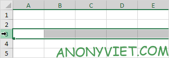 Dòng 3 trong Excel