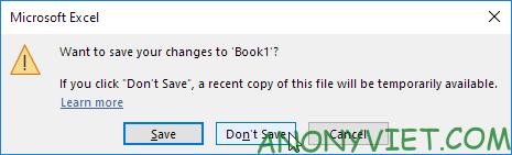 Bài 29: Cách sử dụng AutoRecover trong Excel 35