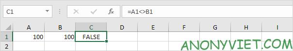 Bài 107: Cách kiểm tra giá trị không bằng nhau trong Excel 35