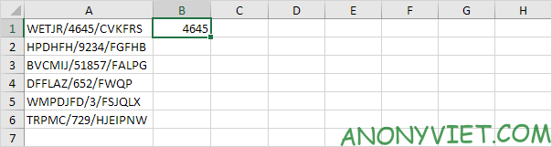 Flash Fill ví dụ 1 Excel