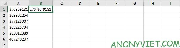 Ví dụ 3 Flash Fill Excel