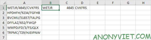 Ví dụ Flash fill Excel