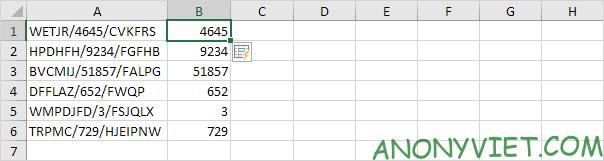 Kết quả ví dụ 1 Flash Fill Excel