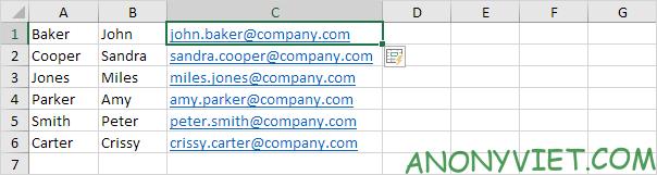 Kết quả ví dụ 2 Flash Fill Excel