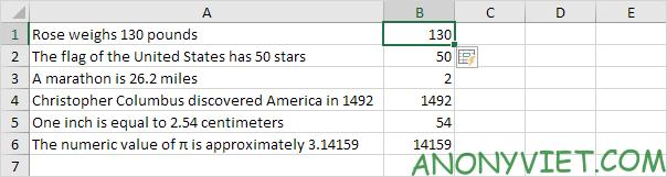 Kết quả Flash Fill Excel