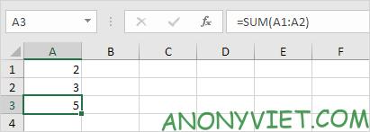 Ví dụ về Hàm - Excel