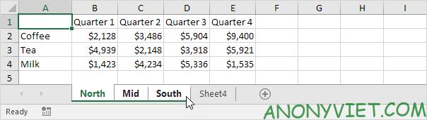 Bài 34: Cách nhóm trang tính - Gộp các Sheet thành Group trong Excel 25