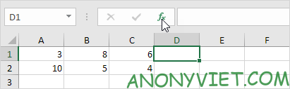 Nút Insert Function Excel