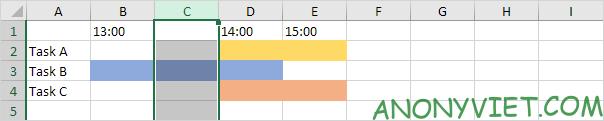 Kết quả thêm cột Split Cell Excel